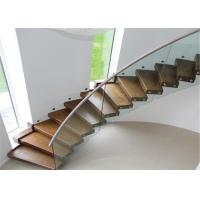 Buy cheap Round Glass Modern Curved Staircase With Double U Channel Stringer from wholesalers