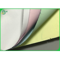 Multiple Color Ncr Carbonless copy paper 50gsm / 55gsm Printing Paper Roll Manufactures