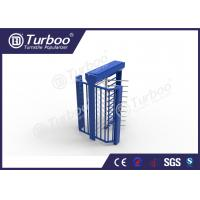Electric Magnetic Lock Full Height Turnstile , High Security Turnstile Manufactures