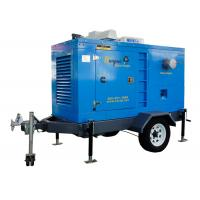 China Centrifugal agriculture water pumps with 2 wheels trailer used for urban drainage on sale