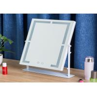 China Square Desktop Illuminated Makeup Mirror Magnifying Mirror With Light on sale