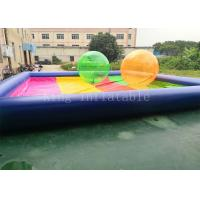 8 * 8 m PVC tarpaulin Blue Rainbow Color Inflatable Water Pool For Kids Playing Manufactures