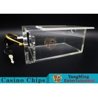 Cheap 6 Decks Casino Card Box / Poker Card Box With Metal Handle Easy To Carry for sale