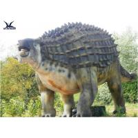 Animatronic Outdoor Dinosaur Statues , Dinosaur Yard Decorations With Infrared Ray Sensor Manufactures