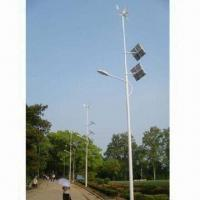 China Wind and Solar Hybrid Street Light/Lamps with 12 Hours Work Per Day and Low Voltage Consumption on sale