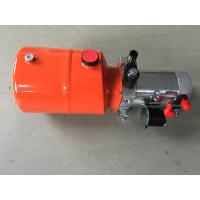 Orange 6L Steel Tank DC Compact Hydraulic Power Unit for Dump Trailer Manufactures