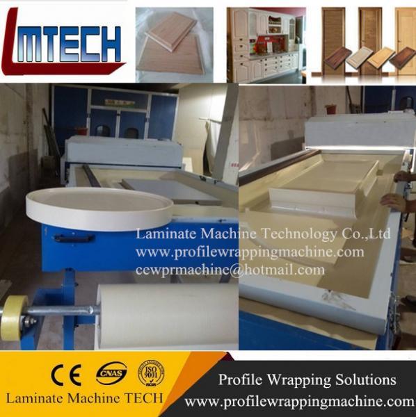 Quality antique style pvc vinyl wrap cabinet doors vacuum membrane press for sale