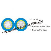 China Armored Optical Fiber Cable Zipcord Duplex With Flexible Metal Tube on sale