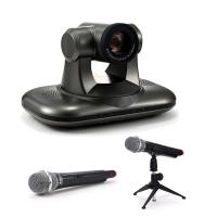 China USB Free Driver 20X Optical Zoom PTZ HD 1080P Video Conferencing Camera With Wireless Microphone on sale