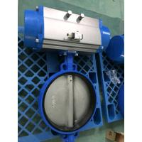 Pneumatic Butterfly Valve , Pneumatic Operated Butterfly Valve By Spring Return Double Acting Actuator Manufactures
