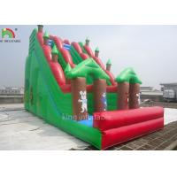 Double Sewing Inflatable Dry Slide Green Forest Theme EN14960 CE EN71 Manufactures