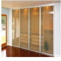 China aluminum sliding screen door sliding frosted glass doors on sale