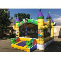 Yellow Outdoor Playground Inflatable Jumping Castle For Kids / Indoor Bouncy Castle Manufactures