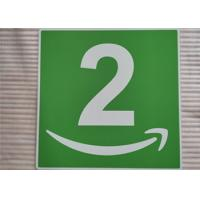 Custom Aluminum Room Number Signs Round Corner UV Resistant Printing For Office Manufactures