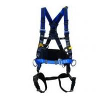 Blue Multi Point Full Body Safety Harness , Climbing Body Harness With Rescue Strap Manufactures