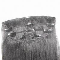 Human Hair Clip Wefts, Available in Silky Straight/Curly Style, Available in Various Sizes/Colors Manufactures