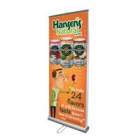China Aluminium Alloy Double Sided Pull Up Banner 85×200 cm With Nylon Travel Bags on sale