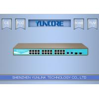 48V Standard Power Over Ethernet Switch , 802.3at Gigabit 24 Channel POE Switch Manufactures