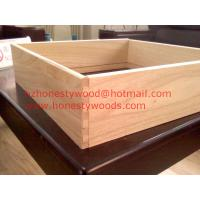 Quality Paulownia drawer sides and backs, Paulownia drawer component. Dovetail groove for sale
