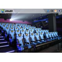 Cheap Custom Theme Park 4D Movie Theater Blue Motion Chairs Imax Movie Theater for sale