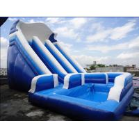 Unti-riptured Commercial Inflatable Water Slides With Swimming Pool Manufactures