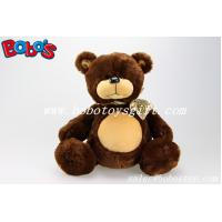 Brown Big Belly Stuffed Bears with Ribbon Manufactures