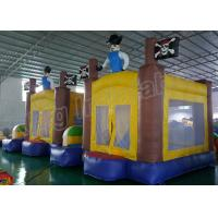 Outdoor Playground Pirate Inflatable Kids Jumping Castle Yellow And Blue Manufactures