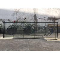 China Tempered Sliding Glass DoorPowder Coated Smooth Surface 25.4 Mm Thickness on sale