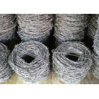 Powder Coated Concertina Barbed Wire / Concertina Garden Fence For Protection Manufactures
