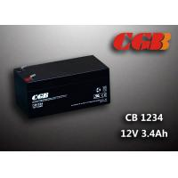 China 12V 3.4AH AGM UPS Lead Acid Battery , Alarm System Recharge Ups Battery on sale