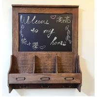 Kitchen Decorative Message Boards / Message Board With Key Hooks Wooden Frame Manufactures