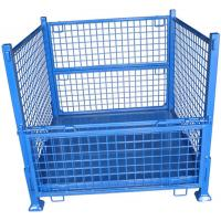 Heavy Duty Wire Mesh Storage Containers Stackable Space Saving Manufactures