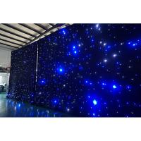 Cheap 4m High x6m Wide  led lights event decor star curtain LED Curtain Manufactures