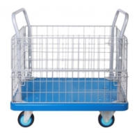 Buy cheap 500kgs Wire Mesh Roll Cage Trolley 1200*800*990mm For Warehouse from wholesalers