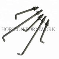 L Shape Concrete Forming Accessories Anchor Bolts With Nut And Washer Manufactures