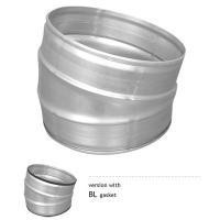 Bend 15 Degree Angle B / Bl Ventilation Duct Fittings Galvanized Sheet Manufactures