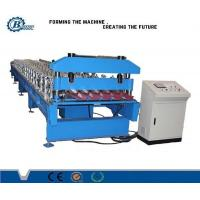 Cheap Metal Sheet Roofing Panel IBR Roll Forming Machine With 8-25m / min Speed for sale