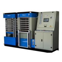 Blue Hydraulic Board Laminating Machine With Single Cylinder For A3 Size Card , 22KW Power Manufactures
