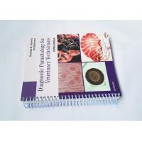 Wire Bound Softcover Book Printing And Binding Services CMYK Full Color Manufactures