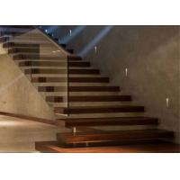 Contemporary Metal Floating Stairs , Wooden Staircase Designs For Homes Manufactures