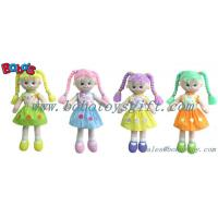 Softest Baby Toy Smiling Face Girl Stuffed 3D Toy In Colorful Hair Manufactures