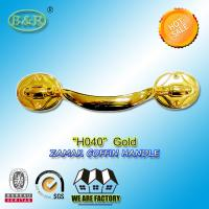 Cheap Adult Metal Coffin Handles Antique Brass Antique Copper Gold Finish H040 size 23.5*5 cm for sale