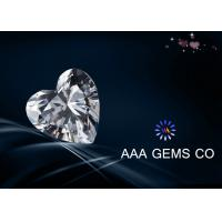 High Level Heart Synthetic Diamond Moissanite , Colorless Moissanite