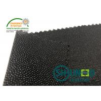 Black PA Coated Woven Interlining Twill Woven Stretch Interfacing Manufactures