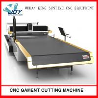 Cheap Electric Automatic Fabric Cutter , CNC Cloth Cutting Machine With Completed Spreading for sale