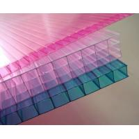 Customized Pink / Blue / Orange Soundproof Polycarbonate Hollow Sheet For Stadiums