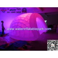 Lighting Inflatable Luna Tent For Party , Light Dome Tent Inflatable Igloo Manufactures