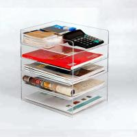 Fashion Acrylic Brochure Holders Home Decoration Acrylic Book Storage Box Manufactures