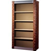 China Top Genuine Leather Home Office Bookcase / Shelving Cabinet Solid Structure on sale