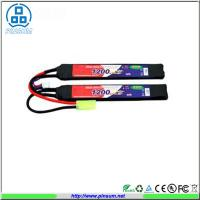 Rechargeable RC Airsoft LiPo Battery Packs 20C 11.1V 1200mAh Long Bar Battery Packs Manufactures